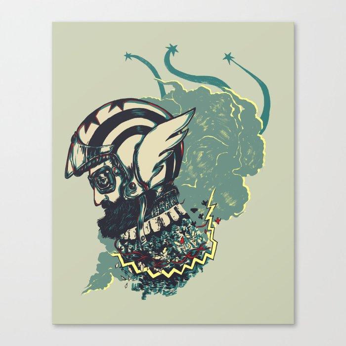 Biker Canvas Print