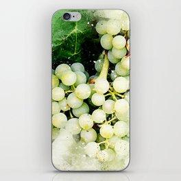 Green Grapes Watercolor iPhone Skin