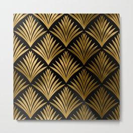 Luxurious Black and Gold Art Deco Elegant Pattern Metal Print