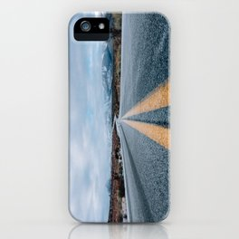 Yellow road mountain iPhone Case