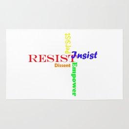 Resist, persist, empower, dissent, insist Rug