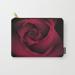 Abstract Rose Burgundy Passion Carry-All Pouch