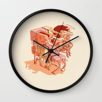 party Wall Clocks featuring party by Ben Bauchau