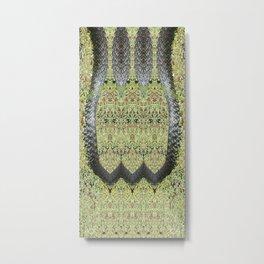 Snake Skin-Lyre Metal Print