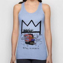 Jean-Michel Basquiat - King Alphonso 1983 Unisex Tank Top