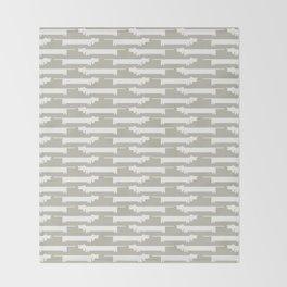 White Wiener Throw Blanket
