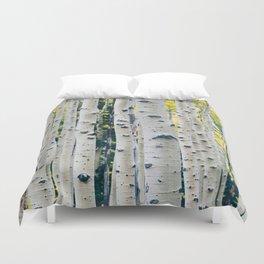 Aspen Forest Tree Bark Duvet Cover