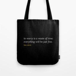 Bea Davis—Black Tote Bag