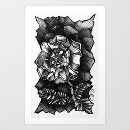 Shattered Flower Art Print
