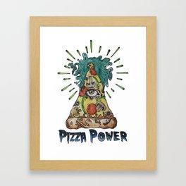 In Pizza We Trust Framed Art Print
