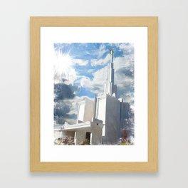 Denver Colorado LDS Temple Framed Art Print