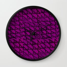 Pattern A Wall Clock