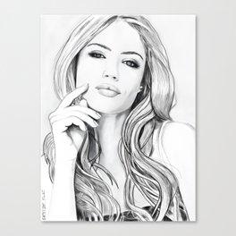 Xenia Tchoumitcheva Portrait of an angel Canvas Print
