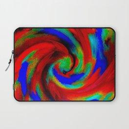 Red Blue Green Fireball Sky Explosion Laptop Sleeve