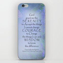Serenity Prayer Butterflies & Vetch iPhone Skin