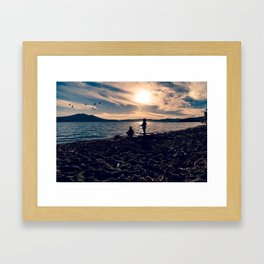 There is no place as childhood Framed Art Print