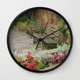 Secluded English Garden Wall Clock