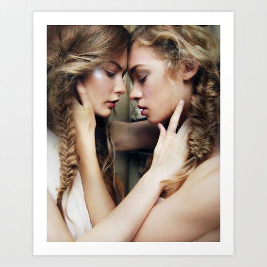 Roxy & Claire Art Print
