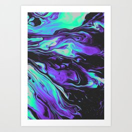 LAVENDER BLOOD Art Print