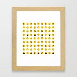 Cute Emoji pattern Framed Art Print