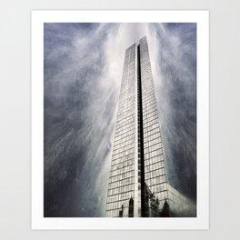 Boston [Sky cut 410] Massachussets, Usa Art Print