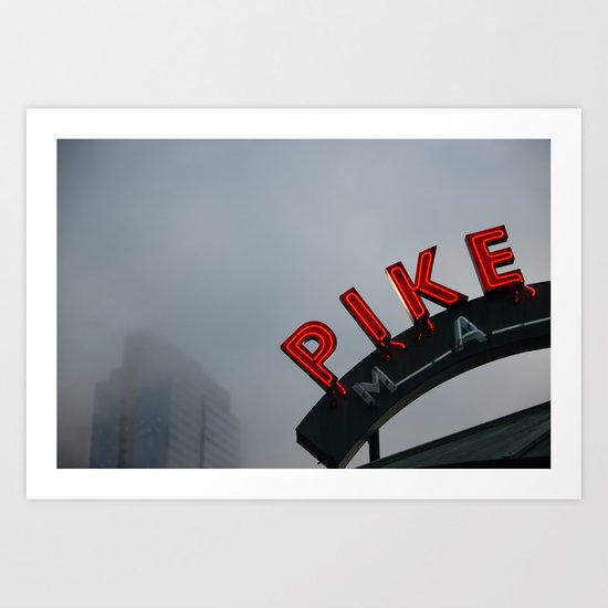 Pike Place Morning Art Print