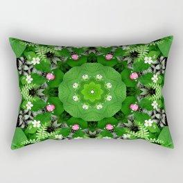 Fern and friends kaleidoscope, mandala - Maidenhair, Adiantum 899 kal 15 s6-4 Rectangular Pillow