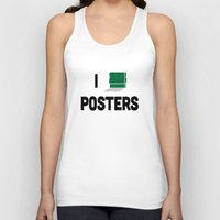 posters Tank Tops featuring I heart Posters by ihearteverything