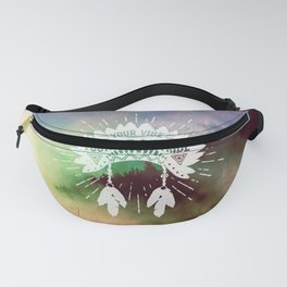 Your Vibe Attracts Your Tribe - Misty Mountain Fanny Pack
