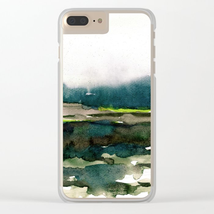 layers of colour 1 Clear iPhone Case