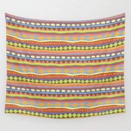 Stripey-Happy Colors Wall Tapestry