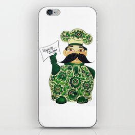 Little chef (green) in petrykivka style iPhone Skin