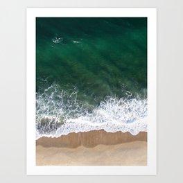 Salty Sea - Aerial Drone Photography Art Print