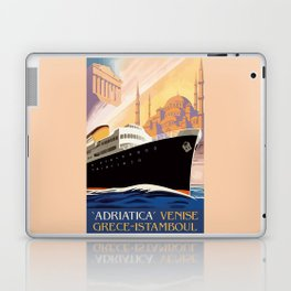 Venice Greece Istanbul shipping line retro vintage ad Laptop & iPad Skin