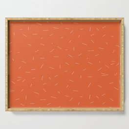 Orange with cereals Serving Tray