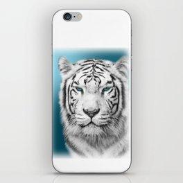 Blue Eyed White Tiger iPhone Skin