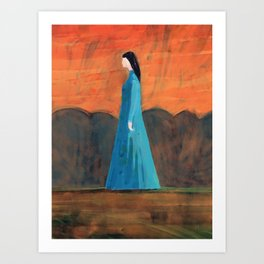Standing in the Garden Art Print