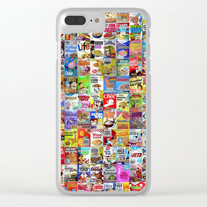Cereal Box Montage Clear iPhone Case
