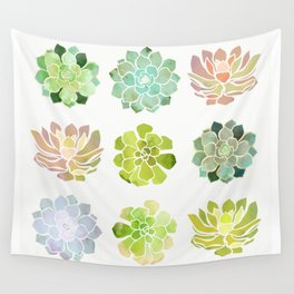 Spring Succulents Wall Tapestry