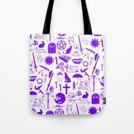 Buffy Symbology, Purple Tote Bag