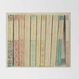 Old Books Throw Blanket