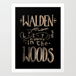 Life in the Woods Art Print