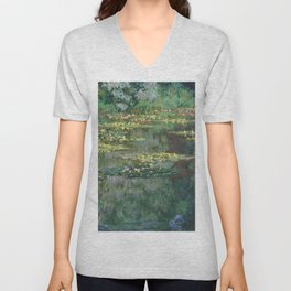 Water Lilies 1904 by Claude Monet Unisex V-Neck