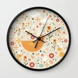 Party Chickens  Wall Clock
