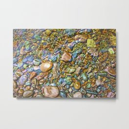 Baptism River Rocks Metal Print
