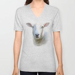 Watercolor Sheep Unisex V-Neck