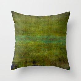 Green burrows ~ Abstract Throw Pillow
