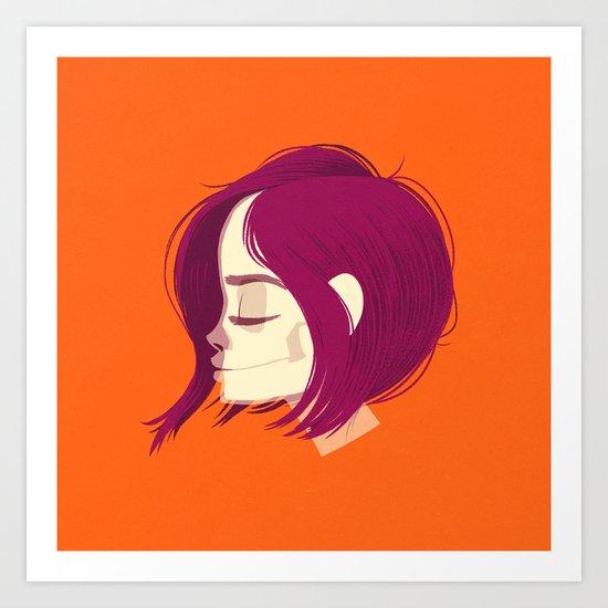 see through girl 1 Art Print