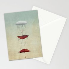 the umbrella runneth over and over Stationery Cards