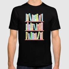 Classics Bookshelf Mens Fitted Tee MEDIUM Black